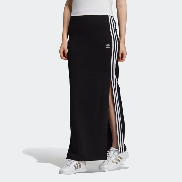 0add68aa7 adidas Skirts   3 Stripe Maxi Skirt   Poshmark